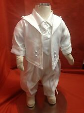 Baby Boy Christening Baptism 2 pcs Outfit/WHITE/Satin & Silk/Sizes XS & XL /SALE