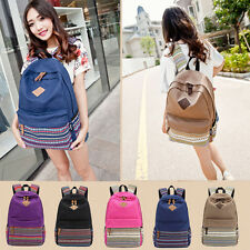 Retro Vintage Canvas Backpack Satchel Travel Hiking Bag School Bookbag New