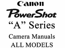 Canon Powershot User Guide Instruction Manual (A MODELS)1
