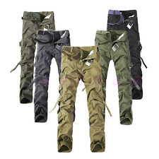Hot Men Casual Military Army Cargo Camo Combat Work Trousers Pant Size 28-38