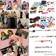 Hot DIY Photo Booth Props Stick Lip Mustache On Wedding Birthday Christmas Party