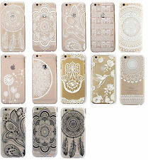 White Black Henna Flower Paisley Mandala case iphone 4 4s  5 5s 5c 6 Samsung S5