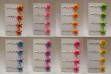 "4 x Baby Starfish Hair Clips Hair Grips Clips Slides ""Colour Option"""