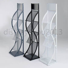A4 WAVE LITERATURE BROCHURE DISPLAY STAND MAGAZINE RACK FOR RECEPTION SHOWROOM
