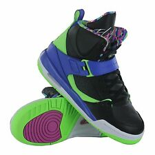 Youth / Womens Nike Air Jordan Flight 45 Sneakers New, Black Blue 524865-029