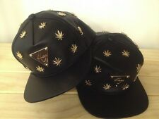 Hater Cannabis Plant Life Weed Snapback / Golden ~ NEW~FREE SHIPPING~