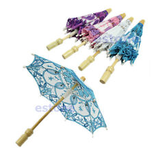 2014 New Embroidered Lace Parasol Umbrella For Bridal Wedding Party Decoration