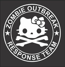 "Hello Kitty Zombie Outbreak Response Team Window Decal 5"" - Various Colors!"