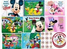 EDIBLE CAKE IMAGE MICKEY or MINNIE MOUSE TOPPER ICING SHEET CUPCAKES PARTY
