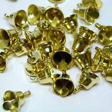 10 x 10mm Liberty Bells for Craft - Gold or Silver