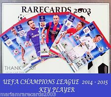 Choose ADRENALYN XL KEY PLAYER Cards 14/15 CHAMPIONS LEAGUE 2014 2015 PANINI