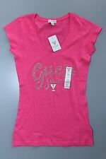 NEW NWT Womens GUESS T Shirt Embellished Brianna Tee Pink XS S M L XL