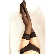 Sexy Womens Lace Top Stay Up Thigh High Stockings Nightclubs Pantyhose