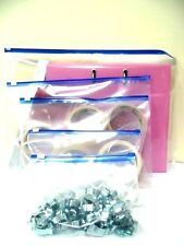 ZIP LOCK ZIPPER SEAL SLIDER TOP PLASTIC POLY-BAGS - 5 SIZES - BUY 10 TO 50