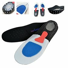 Unisex Orthotic High Arch Support Running Insert Cushion Shoe Pad Gel Insoles