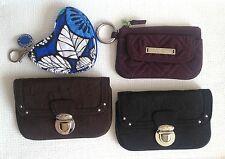 Vera Bradley Wallet Classic Black, Brown or Wine Coin Purse, Microfiber