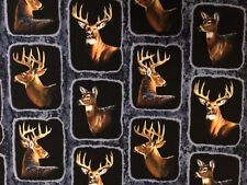Beautiful Realistic Animal Cotton Fabric, Prices Vary! Deer Moose Bear Bird Wolf