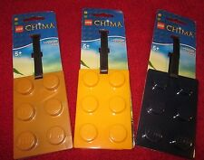Choose: Lego CHIMA Luggage Tag in NAVY, GOLD or YELLOW for Party Favor, Stocking
