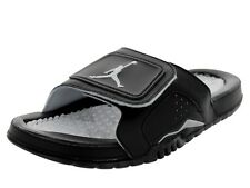 NEW JORDAN HYDRO VI RETRO 4 SANDALS SLIDES 630752 001 BLACK SILVER WHITE