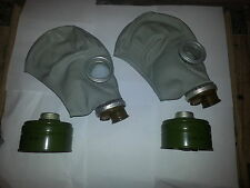 SET of two SOVIET RUSSIAN Gas Masks GP-5 with filters Genuine NEW VINTAGE,