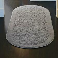 """NON SLIP 100% Cotton Washable SCROLL 26""""x72"""" OVAL RUNNER AREA RUG 4 Colors"""