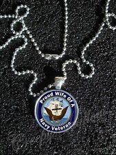 United States Navy Veteran Proud Choose A Family Member Image Necklace