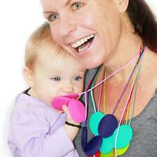 Three Bead Silicone Teething Necklace Chewbeads Style Nursing Necklace