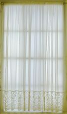 CREAM VOILE CURTAIN WITH LACE BASE SOLD BY THE METRE - Made in UK