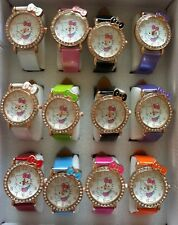 NEW Fashion Lovely HelloKitty Girl Ladie Women Crystal Quartz Wrist Watch
