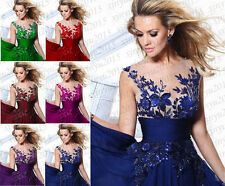2014 Long Formal Chiffon Bridesmaid Evening Party Ball Gown Prom Wedding Dresses