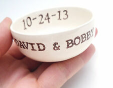 PERSONALIZED wedding RING DISH candle holder jewelry dish made to order ceramic