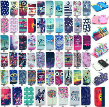 Pretty Wallet Flip Printed PU Leather Stand Case Cover For Samsung S4 S4 Mini