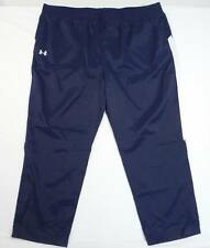 Under Armour Navy Blue & White Athletic Wind Track Pants Mens NWT