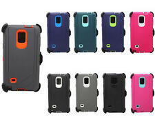 For Samsung Galaxy Note 4 NEW Defender Cover Case w/Clip & Screen Protector