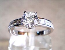 Simulated Solid Diamond Wedding Engagement Ring Size 5.5, 6.5