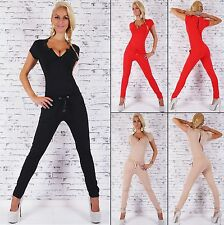 Women's V-Neck Fitted Drawstring Jumpsuit Overall - S / M / L