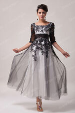 APPLIQUE Wedding Mother of the Bride / Groom Evening Bridal Party Dress Gown NEW