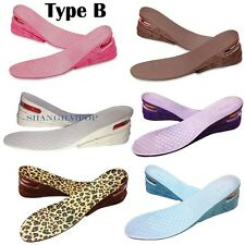 3 Layer Height Increase Insole Heel Lift Shoe Insert Air Cushion Invisible 6-7cm