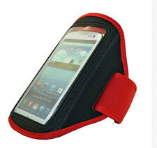 Red New Adjustable Gym Jogging Running armband case cover holder for HTC phone