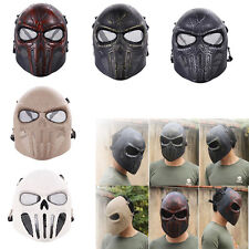 Punisher Logo Resin Craft Party Army of Two Airsoft CS Protective Full Face Mask