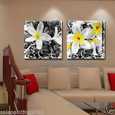 Art Print Black and White Flower Painting Pictures Modern Canvas Wall Art Decor