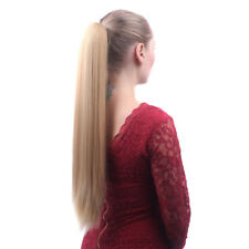 "22"" Claw Pony tail Ponytail Clip In On Hair Extensions Straight Style 16 Colors"