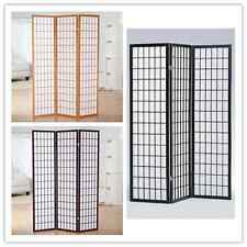 Japanese Style 3 Panels Wood Shoji Room Divider Screen Oriental for Home/Office