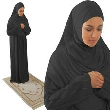 ISLAMIC ATTIRE FOR WOMEN, PRACTICAL ONE PIECE PRAYER DRESS, HAJJ OUTFIT, ABAYA