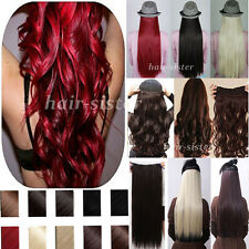 """17""""-30"""" Long 100% Natural Hair Extension Clip in on Hair Extensions US Stock h92"""
