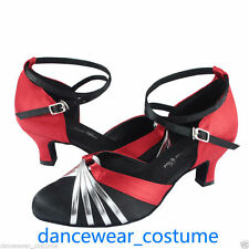 New Ladies Women Ballroom Latin Salsa Dance Shoes Tango Jazz Heels Sandals US5-9