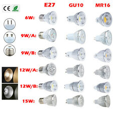 Wholesale CREE MR16 GU10 E27 6W 9W 12W 15W Dimmable LED COB spotlight lamp bulb
