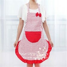 1Pc Women Kitchen Restaurant Bib BowKnot Cooking Aprons With Pocket Gift