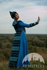 Sarmatian Tsarina Fantasy Medieval Style Dress And Overcoat Set