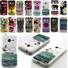 TPU Silicone Rubber Print Phone Back Case Cover For Samsung Galaxy ACE 4 G313H